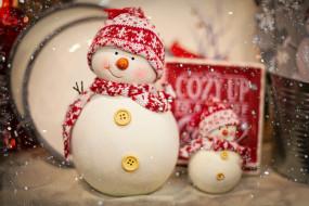 праздничные, снеговики, christmas