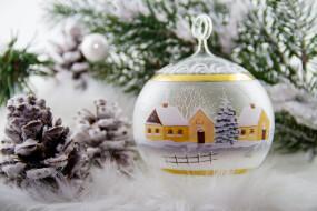 праздничные, шары, christmas