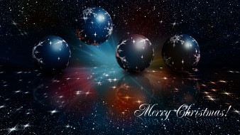 праздничные, векторная графика , новый год, шары, фон