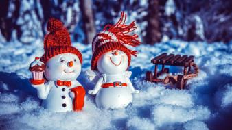 снег, санки