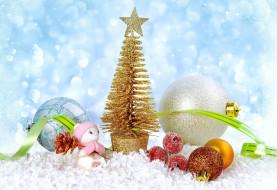 Новый год, Christmas, Рождество, елка, игрушки, шары