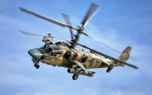 небо, вертолет, Alligator, Ka-52, полет