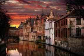 канал, мост, вечер