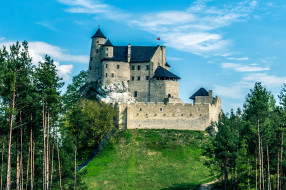 bobolice castle, города, замки польши, bobolice, castle