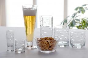 пена, бокал, орехи, пиво