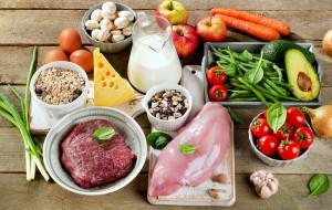 еда, разное, грибы, овощи, сыр, мясо