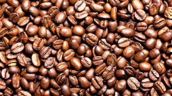 еда, кофе,  кофейные зёрна, зерна, россыпь
