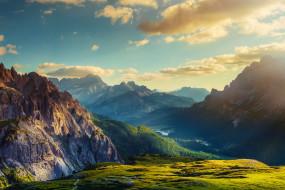 лес, простор, закат, река, озеро, горы, деревья, пейзажи, природа