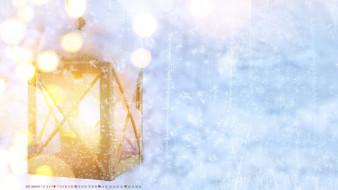 фон, фонарь, боке, снежинка
