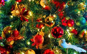 елка, игрушка, шар, ветка