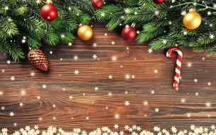 праздничные, украшения, ёлка, снежинки