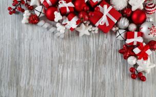 праздничные, украшения, ягоды, коробки