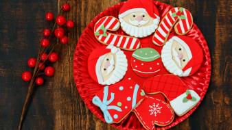праздничные, угощения, печенье, тарелка