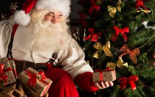 праздничные, дед мороз,  санта клаус, christmas, дед, мороз, санта, клаус, подарки, рождество, новый, год, елка