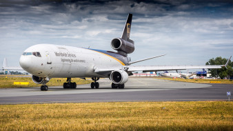mcdonnell douglas md-11f, авиация, грузовые самолёты, авиалайнер