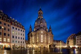 frauenkirche in dresden, города, дрезден , германия, простор