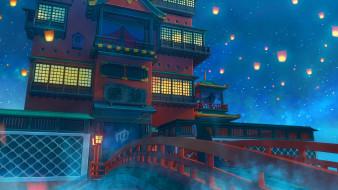 аниме, spirited away, унесённые, призраками