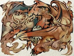 charizard, дракон, покемон, монстр
