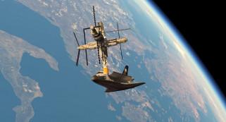 космический корабль, галактики, вселенная, полет