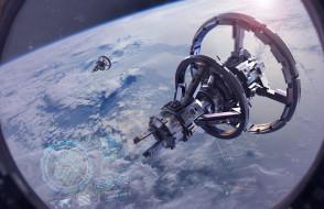 космос, иллюминатор, орбита, космическая станция, научная фантастика