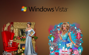 компьютеры, windows vista, windows longhorn, фон, логотип