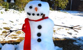 шарф, трубка, снеговик