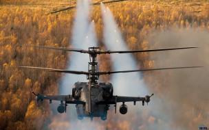 вертолеты, аллигатор, ка-52, ракеты, стрельба, авиация, россия, ввс, ударные вертолеты