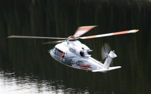 легкий вертолет, река, sikorsky, гражданская авиация