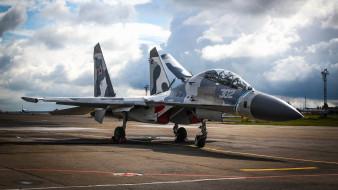 истребитель, су37, аэродром, военно-воздушные силы россии