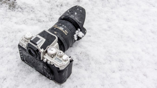 фотоаппарат, камера, снег