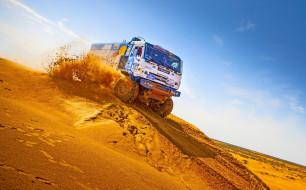 камаз мастер, ралли дакар, песок, бархан, пустыня, грузовик