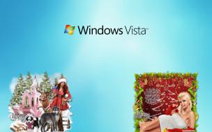 компьютеры, windows vista, windows longhorn, логотип, фон