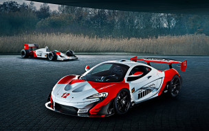 бразильский флаг, британские автомобили, суперкары, красный, белый, тюнинг, гоночные автомобили, макларен