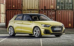 желтый, хэтчбек, экстерьер, новый, вид спереди, ауди, немецкие автомобили