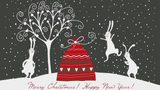мешок, дерево, снег, зайцы