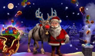 Санта Клаус, олень, Дед Мороз