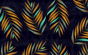 синий, фон, листья, текстура