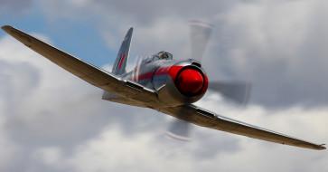 самолет, небо, the buick, r-4360, полет, Dreadnought
