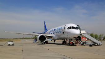 аэропорт, пассажирский самолет, воздушный лайнер, иркут, среднемагистральный, узкофюзеляжный