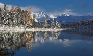 фотограф Галина Хвостенко, Алтай, озеро, горы, деревья, зима