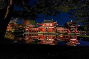 города, замки Японии, простор