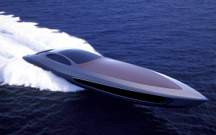 катер, пена, море, скорость