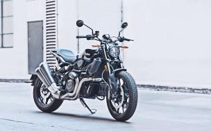 индийский мотоцикл, ftr 1200, новый, вид спереди, спортбайк, черный