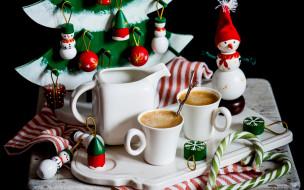 кофе, снеговик, декор, новый год, игрушки