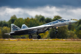 сухой, боевые самолеты, россия, су-57, авиация, su-57, истребитель, ввс