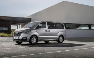 корейские автомобили, хендай, новый, экстерьер, микроавтобус, серый