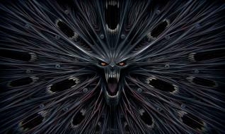 рты, оскал, глаза, демон
