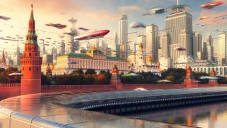Небоскребы, Evgeny Kazantsev, Moscow City, Art, Россия, Russia, Кремль, City, by Evgeny Kazantsev, Фантастика, Москва