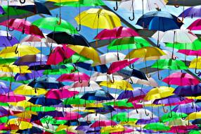 разное, сумки,  кошельки,  зонты, яркий, зонт, разноцветный