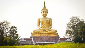 статуя, религия, восток, будда, буддизм